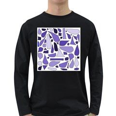 Silly Purples Men s Long Sleeve T-shirt (Dark Colored)