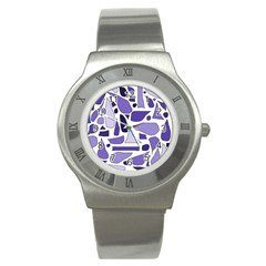 Silly Purples Stainless Steel Watch (slim)