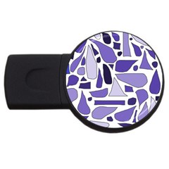 Silly Purples 4GB USB Flash Drive (Round)