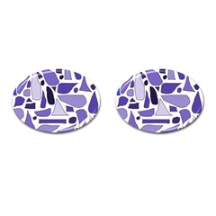 Silly Purples Cufflinks (oval)