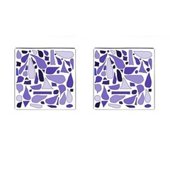Silly Purples Cufflinks (Square)