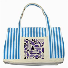 Silly Purples Blue Striped Tote Bag