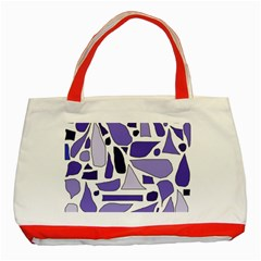 Silly Purples Classic Tote Bag (red)