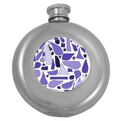 Silly Purples Hip Flask (Round)