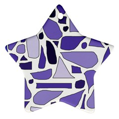Silly Purples Star Ornament (two Sides)