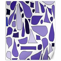 Silly Purples Canvas 8  x 10  (Unframed)