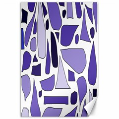 Silly Purples Canvas 20  x 30  (Unframed)