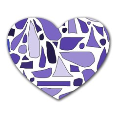 Silly Purples Mouse Pad (Heart)