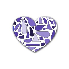 Silly Purples Drink Coasters 4 Pack (Heart)