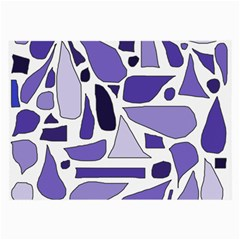 Silly Purples Glasses Cloth (large, Two Sided)