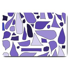 Silly Purples Large Door Mat
