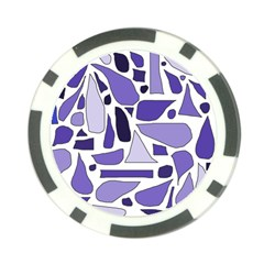 Silly Purples Poker Chip