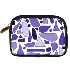 Silly Purples Digital Camera Leather Case