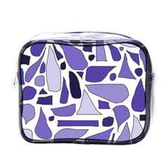 Silly Purples Mini Travel Toiletry Bag (one Side)