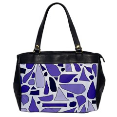 Silly Purples Oversize Office Handbag (One Side)