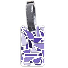 Silly Purples Luggage Tag (one Side)