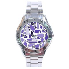 Silly Purples Stainless Steel Watch
