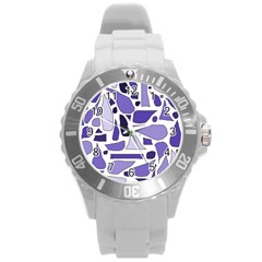 Silly Purples Plastic Sport Watch (Large)