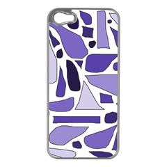 Silly Purples Apple Iphone 5 Case (silver)