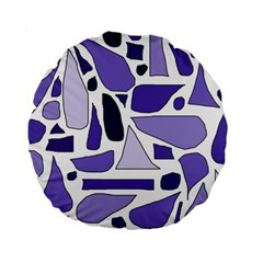 Silly Purples 15  Premium Round Cushion