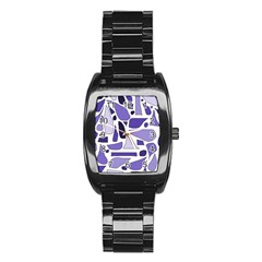 Silly Purples Stainless Steel Barrel Watch