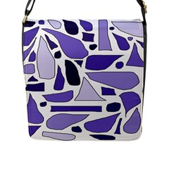 Silly Purples Flap Closure Messenger Bag (Large)