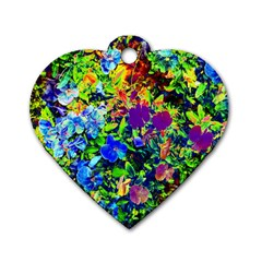 The Neon Garden Dog Tag Heart (Two Sided)