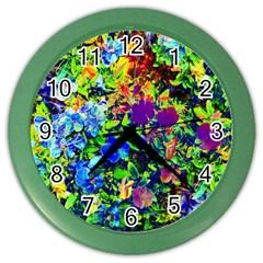 The Neon Garden Wall Clock (color)