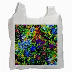 The Neon Garden White Reusable Bag (two Sides)