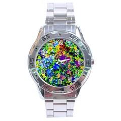 The Neon Garden Stainless Steel Watch
