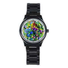 The Neon Garden Sport Metal Watch (black)