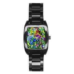 The Neon Garden Stainless Steel Barrel Watch