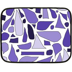 Silly Purples Mini Fleece Blanket (two Sided)