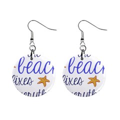 The Beach Fixes Everything Mini Button Earrings
