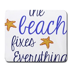 The Beach Fixes Everything Large Mouse Pad (Rectangle)