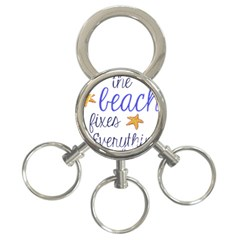 The Beach Fixes Everything 3 Ring Key Chain