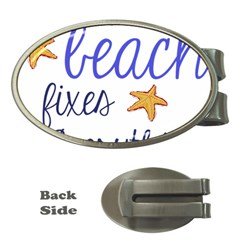 The Beach Fixes Everything Money Clip (Oval)