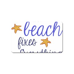 The Beach Fixes Everything Magnet (Name Card)