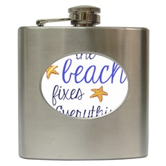 The Beach Fixes Everything Hip Flask