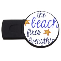The Beach Fixes Everything 2gb Usb Flash Drive (round)