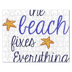The Beach Fixes Everything Jigsaw Puzzle (Rectangle)