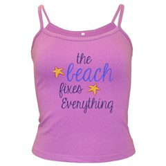 The Beach Fixes Everything Spaghetti Top (Colored)