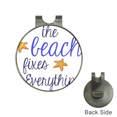 The Beach Fixes Everything Hat Clip with Golf Ball Marker