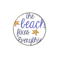 The Beach Fixes Everything Golf Ball Marker (for Hat Clip)