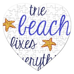 The Beach Fixes Everything Jigsaw Puzzle (Heart)