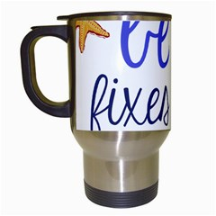 The Beach Fixes Everything Travel Mug (white)