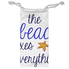 The Beach Fixes Everything Jewelry Bag
