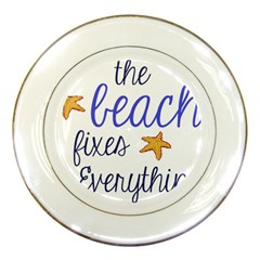 The Beach Fixes Everything Porcelain Display Plate