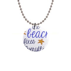The Beach Fixes Everything Button Necklace