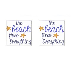 The Beach Fixes Everything Cufflinks (square)